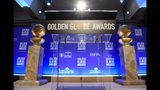 Golden Globe statues appear on stage prior to the nominations for the 76th Annual Golden Globe Awards at the Beverly Hilton hotel on Thursday, Dec. 6, 2018, in Beverly Hills, Calif. The 76th annual Golden Globe Awards will be held on Sunday, Jan. 6, 2019. (Photo by Chris Pizzello/Invision/AP).