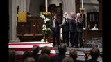 "The Oak Ridge boys sing ""Amazing Grace"" during a funeral service for former President George H.W. Bush at St. Martin's Episcopal Church Thursday, Dec. 6, 2018, in Houston. (AP Photo/David J. Phillip, Pool)"