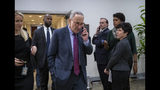 Senate Minority Leader Chuck Schumer, D-N.Y., leaves a closed-door security briefing by CIA Director Gina Haspel on the slaying of Saudi journalist Jamal Khashoggi and the involvement of the Saudi crown prince, Mohammed bin Salman, at the Capitol in Washington, Tuesday, Dec. 4, 2018. (AP Photo/J. Scott Applewhite)