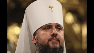 New Ukrainian Orthodox leader gives 1st liturgy, urges unity
