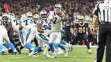 Carolina Panthers quarterback Kyle Allen recovers a snap during an NFL football game against the New Orleans Saints in New Orleans, Sunday, Dec. 30, 2018. (Scott Clause/The Daily Advertiser via AP)