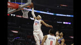 Los Angeles Clippers' Tobias Harris (34) dunks against the Charlotte Hornets during the first half of an NBA basketball game Tuesday, Jan. 8, 2019, in Los Angeles. (AP Photo/Marcio Jose Sanchez)