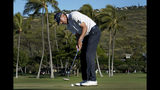 Matt Kuchar putts on the 13th green during the second round of the Sony Open PGA Tour golf event, Friday, Jan. 11, 2019, at Waialae Country Club in Honolulu. (AP Photo/Matt York)