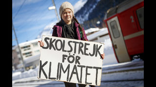 Swedish teen takes climate activism to jet-setters in Davos