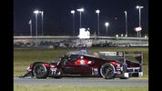 Tristan Nunez drives the Mazda DPi through a turn during the evening hours of the IMSA 24-hour race at Daytona International Speedway, Saturday, Jan. 26, 2019, in Daytona Beach, Fla. (AP Photo/John Raoux)