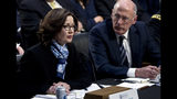 CIA Director Gina Haspel accompanied by Director of National Intelligence Daniel Coats testifies before the Senate Intelligence Committee on Capitol Hill in Washington Tuesday, Jan. 29, 2019. (AP Photo/Jose Luis Magana)