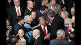 President Donald Trump arrives to deliver his State of the Union address to a joint session of Congress on Capitol Hill in Washington, Tuesday, Feb. 5, 2019. (AP Photo/J. Scott Applewhite)