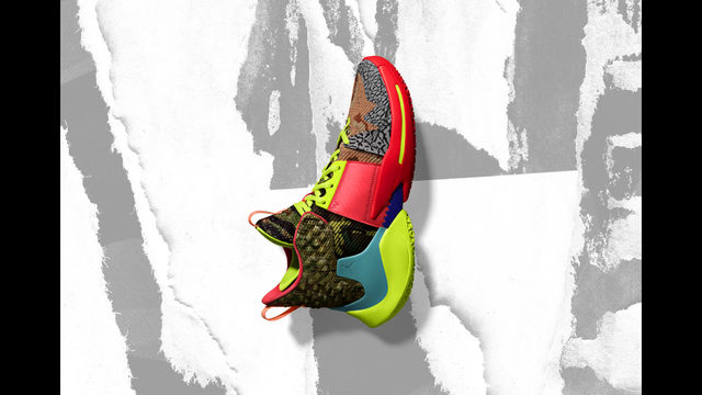 separation shoes ea363 2e50a In this undated image provided by Nike, a shoe that Oklahoma City Thunders  Russell Westbrook will wear for the NBA All-Star Game is shown.