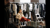 A model waits backstage for first looks before the Zadig & Voltaire show is modeled during Fashion Week, Monday, Feb. 11, 2019, in New York. (AP Photo/Kathy Willens)