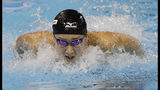 FILE - In this Dec. 11, 2016, file photo, Rikako Ikee, of Japan, competes in the women's 100-meter butterfly final at the FINA World Swimming Championships short-course Sunday, Dec. 11, 2016 in Windsor, Ontario. Ikee, the favorite for the 100-meter butterfly for the 2020 Tokyo Olympics, has been diagnosed with leukemia. Ikee said on her verified Twitter account Tuesday, Feb. 12, 2019, her illness surfaced when she got tests after returning from Australia not feeling well. (AP Photo/David J. Phillip, File)