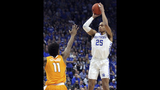 No. 5 Kentucky ends No. 1 Tennessee