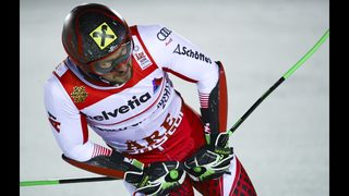 The Latest: Hirscher wins slalom, leads Austrian clean sweep