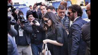 Amal Clooney among the gang at Meghan Markle
