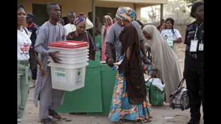 The Latest: Top presidential challenger votes in Nigeria