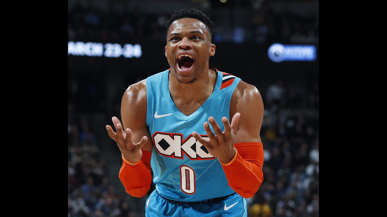 1945c6995af8 Russell Westbrook pushed by young fan