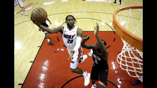 ... Rockets  Clint Capela (15) defends during the second half of an NBA  basketball game Thursday 0c9fcddd8