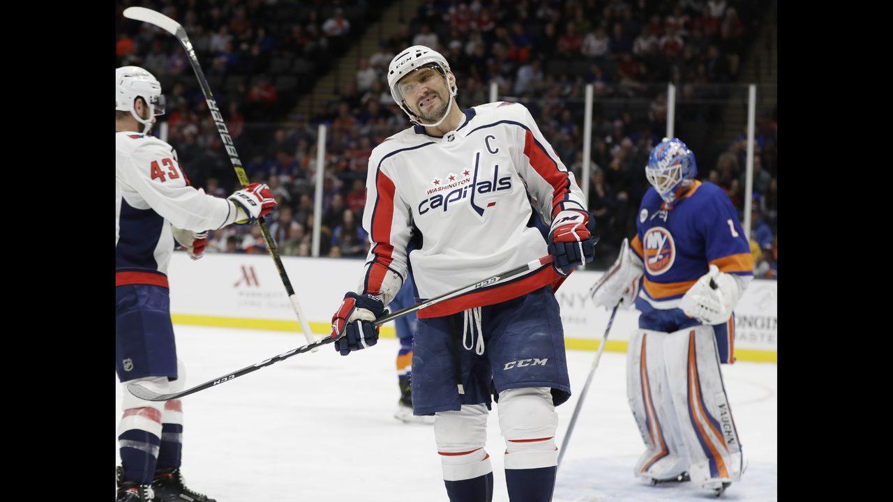 d11e1384c5c Ovechkin scores 45th as Capitals top Islanders 3-1