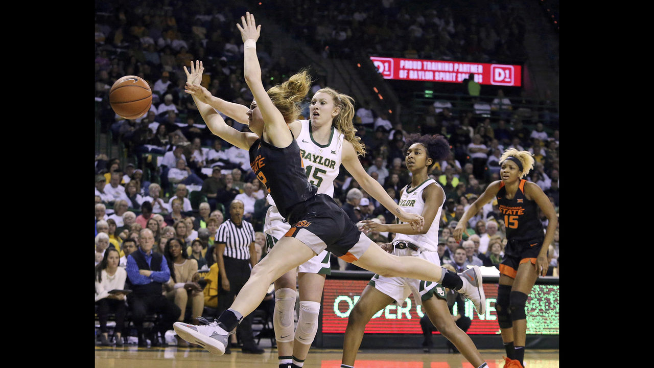 No  1 Baylor women win 19th in a row 76-44 over Oklahoma St | FOX23