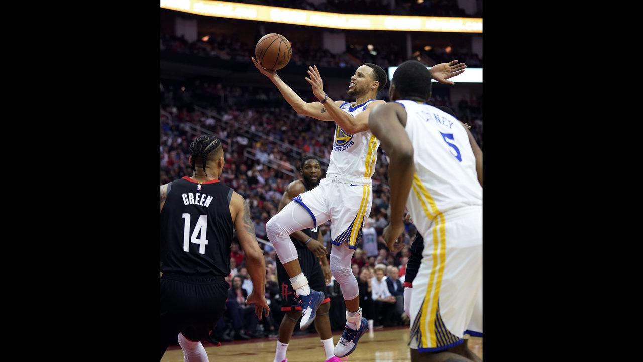 Warriors, minus Durant, end Rockets' 9-game streak, 106-104 | WSOC-TV