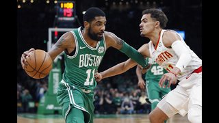 Irving, Celtics survive late charge by Hawks in 129-120 win