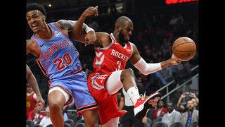 Harden, Capela lead Rockets to easy win over Hawks