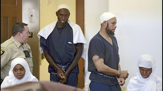 5 compound suspects plead not guilty to terror charges