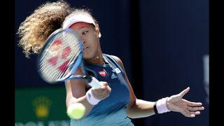 No. 1-ranked Naomi Osaka wins opening match at Miami Open