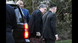 Attorney General William Barr arrives at home in McLean, Va., on Friday evening, March 22, 2019. Special counsel Robert Mueller has concluded his investigation into Russian election interference and possible coordination with associates of President Donald Trump. The Justice Department says Mueller delivered his final report to Barr. (AP Photo/Sait Serkan Gurbuz)