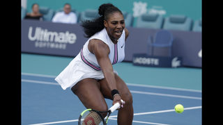 No. 1 Osaka loses in 3rd round at Miami; Serena withdraws