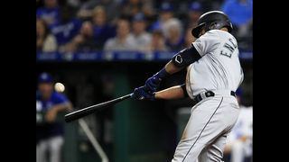 Encarnacion HRs twice in 6th, Mariners roll over Royals 13-5