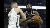 Detroit Pistons' Andre Drummond drives to the basket against Milwaukee Bucks' Brook Lopez during the first half of Game 2 of an NBA basketball first-round playoff series Wednesday, April 17, 2019, in Milwaukee. (AP Photo/Aaron Gash)