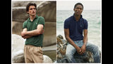 This combination of photos released by Ralph Lauren shows Polo shirts made from recycled plastic bottles. Each shirt is made from an average of 12 bottles collected in Taiwan, where the Polos are made, in partnership with an organization called First Mile. The shirts will be available Thursday for men and women at RalphLauren.com and in stores around the globe. (Ralph Lauren via AP)