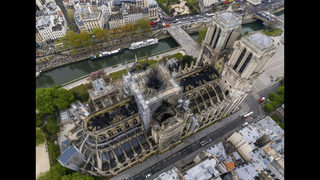 The Latest: Police eye electrical short in Notre Dame probe