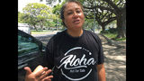 "This Friday, April 12, 2019 photo shows Healani Sonoda-Pale, chairwoman of the Ka Lahui Hawaii political action committee, wearing a T-shirt saying ""Aloha Not for Sale"" in Honolulu. Hawaii lawmakers are considering adopting a resolution calling for the creation of legal protections for Native Hawaiian cultural intellectual property. (AP Photo/Audrey McAvoy)"