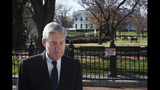 FILE - In this March 24, 2019, file photo, Special Counsel Robert Mueller walks past the White House after attending services at St. John's Episcopal Church, in Washington. (AP Photo/Cliff Owen, File)