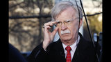 FILE - In this March 5, 2019, file photo, U.S. national security adviser John Bolton adjusts his glasses before an interview at the White House in Washington. North Korea has issued a relatively mild criticism of White House national security adviser John Bolton over a recent interview he gave. State media on Saturday cited First Vice Foreign Minister Choe Son Hui as criticizing Bolton for telling Bloomberg News that the U.S. would need more evidence of North Korea's disarmament commitment before a third leaders' summit. (AP Photo/Jacquelyn Martin, File)