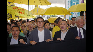 The Latest: 8 Hong Kong protest organizers sentenced