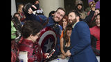 "Chris Evans takes a selfie with a fan as he arrives at the premiere of ""Avengers: Endgame"" at the Los Angeles Convention Center on Monday, April 22, 2019. (Photo by Chris Pizzello/Invision/AP)"