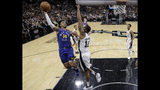 Denver Nuggets guard Gary Harris (14) shoots over San Antonio Spurs center LaMarcus Aldridge (12) during the first half of Game 6 of an NBA basketball playoff series, Thursday, April 25, 2019, in San Antonio. (AP Photo/Eric Gay)