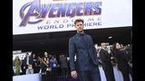 "Chris Hemsworth arrives at the premiere of ""Avengers: Endgame"" at the Los Angeles Convention Center on Monday, April 22, 2019. (Photo by Chris Pizzello/Invision/AP)"