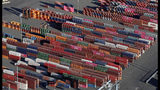 FILE - In this March 5, 2019, file photo, cargo containers are staged near cranes at the Port of Tacoma, in Tacoma, Wash. The 25% tariffs President Donald Trump has imposed on thousands of Chinese-made products have business owners trying to determine how or whether they can limit the damage to profits from the import duties. (AP Photo/Ted S. Warren, File)