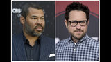 "This combination of photos shows Jordan Peele at the Los Angeles premiere of ""The Twilight Zone"" on March 26, 2019, left, and J.J. Abrams at the Los Angeles premiere of ""Westworld"" Season Two, on April 16, 2018. Georgia has become known as the ""Hollywood of the South"" thanks to its generous tax incentives. Companies have in the past threatened to boycott filming in the state when values clashed with proposed laws, but in the week since Georgia Gov. Brian Kemp signed into law a measure that bans abortion once a fetal heartbeat is detected, there has been no statement from any of the major studios. Abrams and Peele will proceed with a Georgia-set production and donate money to organizations fighting the law. (Photos by Chris Pizzello, left, Richard Shotwell/Invision/AP)"