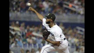 Alcantara pitches 2-hitter, Miami beats reeling Mets 3-0