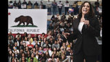 Democratic presidential candidate Sen. Kamala Harris, D-Calif., talks during her campaign organizing event at Los Angeles Southwest College in Los Angeles, on Sunday, May 19, 2019. (AP Photo/Richard Vogel)