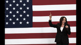 Democratic presidential candidate Sen. Kamala Harris, D-Calif., talks during her first campaign organizing event at Los Angeles Southwest College in Los Angeles, Sunday, May 19, 2019. ((AP Photo/Richard Vogel)