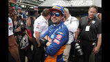 Fernando Alonso, of Spain, watches the final qualifier during qualifications for Indianapolis 500 IndyCar auto race at Indianapolis Motor Speedway, Sunday, May 19, 2019, in Indianapolis. Alonzo failed to make the field for the race. (AP Photo/Michael Conroy)