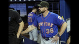 New York Mets manager Mickey Callaway stands in the dugout before a baseball game against the Miami Marlins, Sunday, May 19, 2019, in Miami. (AP Photo/Lynne Sladky)