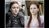 "This combination photo of images released by HBO shows Sophie Turner portraying Sansa Stark in ""Game of Thrones."" The final episode of the popular series aired on Sunday, May 19, 2019. (HBO via AP)"