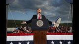 President Donald Trump speaks during a campaign rally, Monday, May 20, 2019, in Montoursville, Pa. (AP Photo/Evan Vucci)