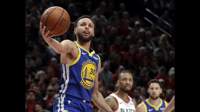 7e122bff91d Golden State Warriors guard Stephen Curry (30) holds the ball after being  whistled for a penalty during the first half of Game 4 of the NBA basketball  ...